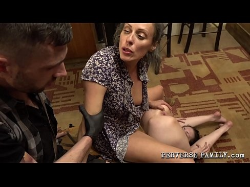 Perverse Family - Mom With Her s. Punished Naughty d