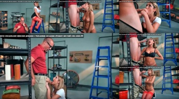 (August Ames) Sexy Big Tits Office Girl Love Hard Sex clip-04