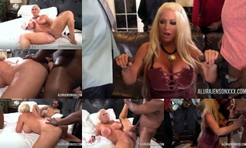 Alura Jenson was fucked by six black Dicks at once